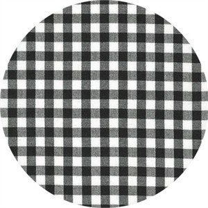 "Robert Kaufman, Carolina Gingham 1/4"", Black"