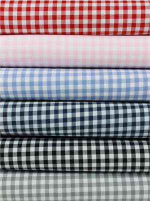 "Robert Kaufman, Carolina Gingham 1/4"" in FAT QUARTERS 6 Total"