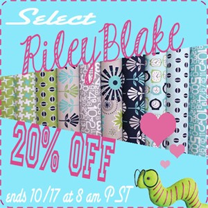 20% Off Select Riley Blake Fabrics for a Limited Time!
