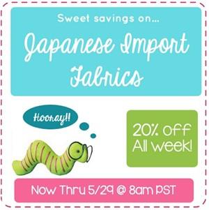 20% Off Japanese Imports thru 5/29