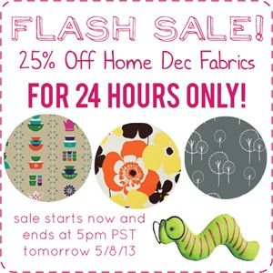 25% Off Home Decor Fabrics For Limited Time Only!