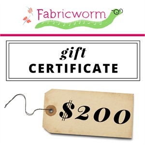 $200 Gift Certificate to fabricworm.com