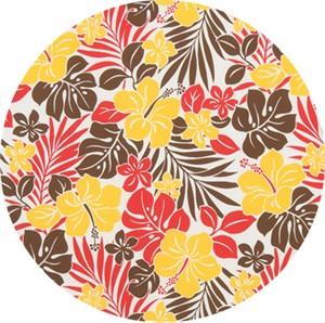 Cosmo Textiles, BROADCLOTH, 70's Aloha White