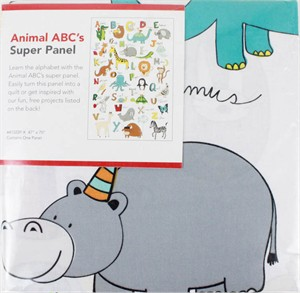 "Windham, Animal ABC's, PRE-PACKAGED, Super Panel (47"" x 70"" Panel)"
