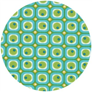 Abi Hall for Moda, ABC Menagerie, Bubble Blocks Turquoise
