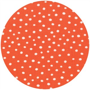 Abi Hall for Moda, ABC Menagerie, Bubble Dots Tangerine