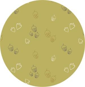 Camelot Fabrics, Hello, My Deer, Acorns Light Olive