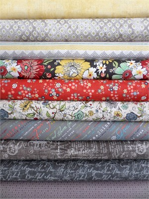 Adornit, Chamberry, Charcoal in FAT QUARTERS 9 Total
