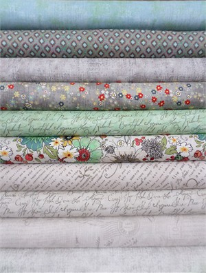 Adornit, Chamberry, Gray in FAT QUARTERS 9 Total
