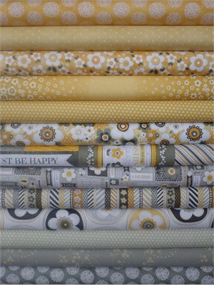 Adornit, Crazy for Daisies, Sunshine in FAT QUARTERS 10 Total