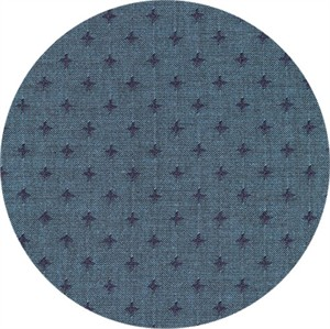 Robert Kaufman, Indikón Yarn Dyed, Additionally Blue