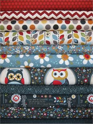Adorn It, Owls, Navy, 11 Total