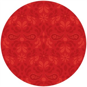 Adornit, Owls, Paisley Damask Red
