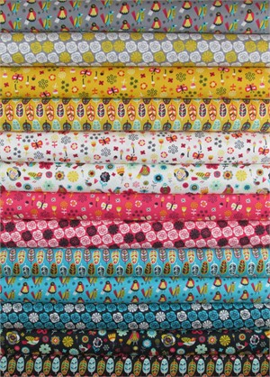 Allison Cole, Birds of a Feather in FAT QUARTERS 13 Total PRE-CUT