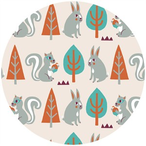 Allison Cole, Festive Forest, Squirrels & Rabbits Cream