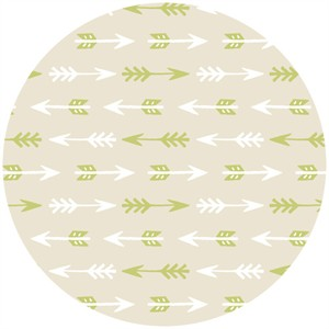 Allison Cole, Happy Camper, Quilting FLANNEL, Arrows Cream