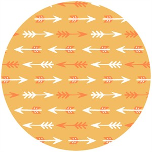 Allison Cole, Happy Camper, Quilting FLANNEL, Arrows Orange