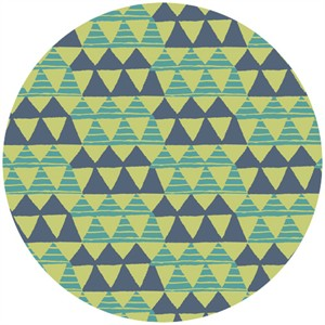 Allison Cole, Happy Camper, Quilting FLANNEL, Tribal Blue