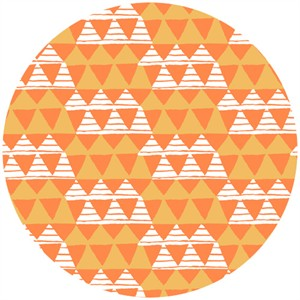 Allison Cole, Happy Camper, Quilting FLANNEL, Tribal Orange