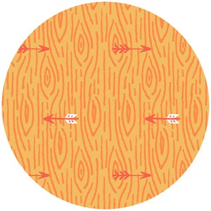 Allison Cole, Happy Camper, Quilting FLANNEL, Woodgrain Orange