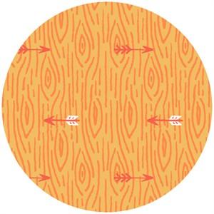Allison Cole, Happy Camper, Quilting FLANNEL, Woodgrain Orange