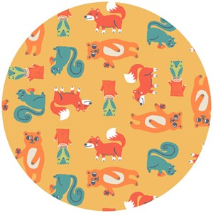 Allison Cole, Happy Camper, Quilting FLANNEL, Critters Orange