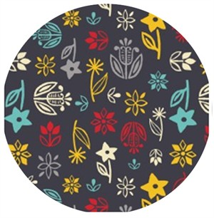 Allison Cole, What�s Cookin�, Floral Dark Grey