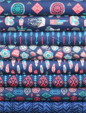 Allison Cole, What a Gem, Navy in FAT QUARTERS 7 Total