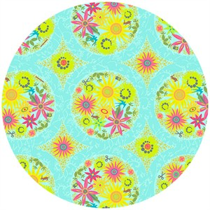 Alison Glass, Clover Sunshine, Circle Aqua