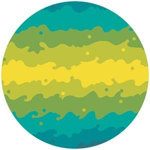Alison Glass, Clover Sunshine, Kite Tail Teal/Lime