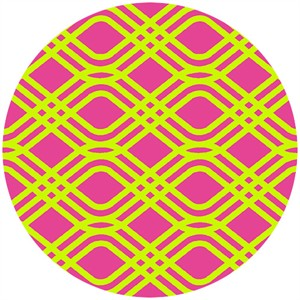 Alison Glass, Clover Sunshine, Party Streamer Fuchsia/Lime