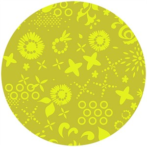 Alison Glass, Sun Print, Corsage Chartreuse