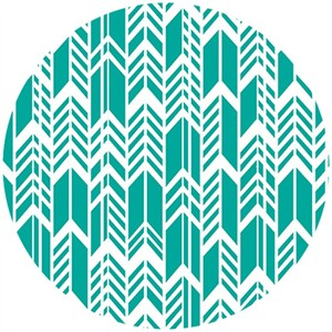 Alison Glass, Sun Print, Feathers Teal