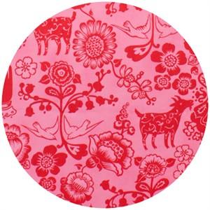 Alexander Henry, Folklorico, Las Golondrinas Hot Pink/Red