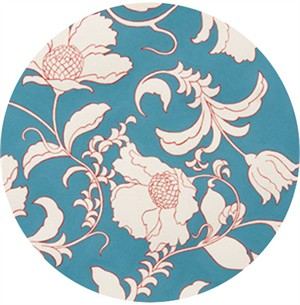 Alexander Henry, Gramercy Floral Turquoise