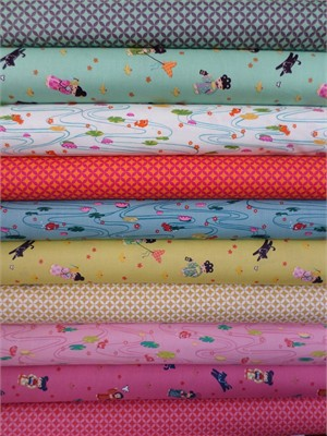 Alexander Henry, Little Indochine Girls in FAT QUARTERS 10 Total