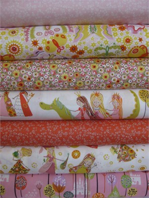 Alexander Henry, Once Upon A Time, Natural in FAT QUARTERS, 6 Total