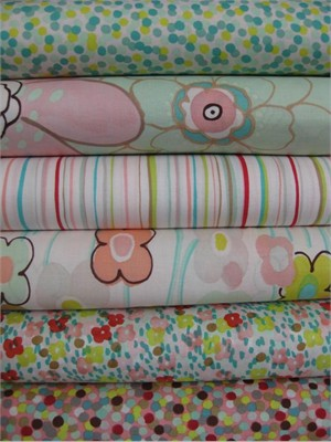 Alexander Henry, Vivienne, Pastel in FAT QUARTERS 6 Total