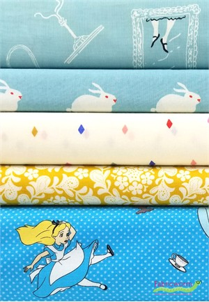 Fabricworm Custom Bundle, Alice Dreaming in FAT QUARTERS 5 Total