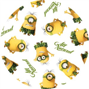 Quilting Treasures, Minions, All Natural Minion Toss White