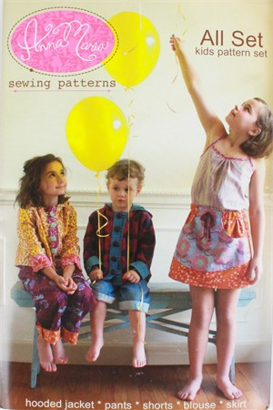 Anna Maria, Sewing Pattern, All Set Kids Pattern Set