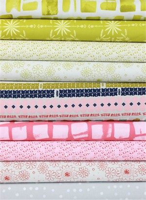 Alexia Marcelle Abegg for Cotton and Steel, Paper Bandana, Pink in FAT QUARTERS 9 Total