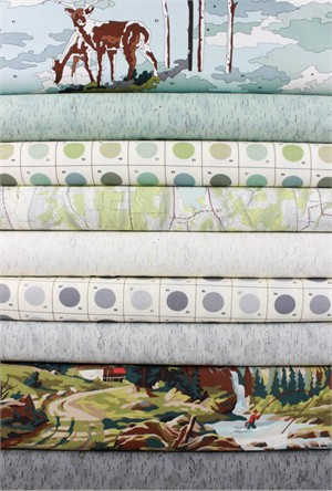 Erin Michael for Moda Fabrics, Alpine in FAT QUARTERS 8 Total