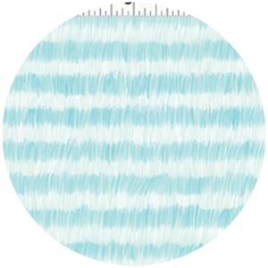 Alyssa Thomas, Here Kitty Kitty Organic, Brushed Stripe Light Blue