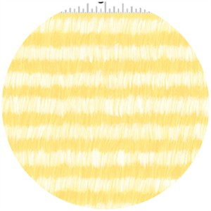 Alyssa Thomas, Here Kitty Kitty Organic, Brushed Stripe Yellow
