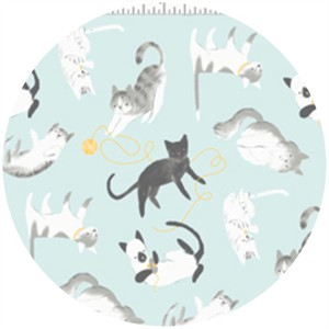 Alyssa Thomas, Here Kitty Kitty Organic, Kitty Playtime Light Blue