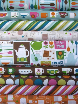 Ampersand Design Studio for Windham, Cream and Sugar in FAT QUARTERS, 9 Total