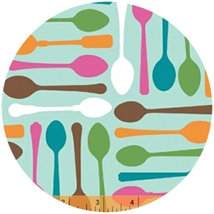 Ampersand Design Studio for Windham, Cream and Sugar, Sweet Spoons Blue