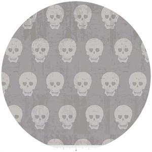 Amy Adams for Riley Blake, Geekly Chic, Skulls Gray