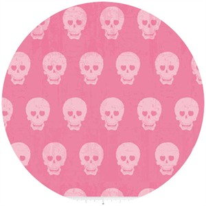 Amy Adams for Riley Blake, Geekly Chic, Skulls Pink
